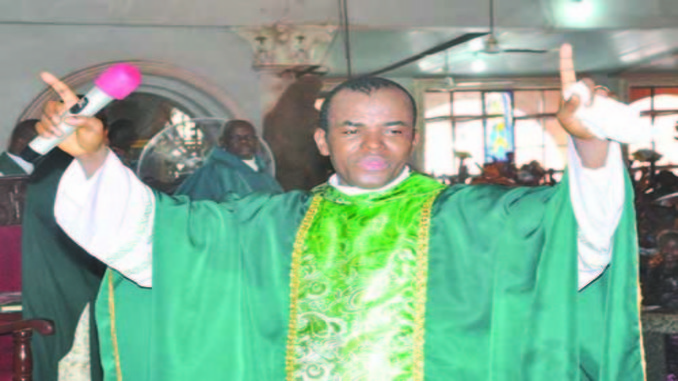 father mbaka banned