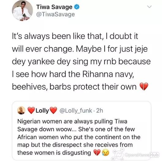 tiwa savage opens